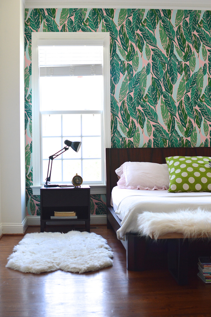 Best ideas about Wallpaper Accent Wall Bedroom . Save or Pin Design Addict Mom Master Bedroom Refresh with Justina Now.