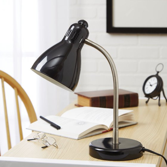 Best ideas about Walmart Desk Lamps . Save or Pin Mainstays Black Gooseneck Desk Lamp CFL Bulb Included Now.