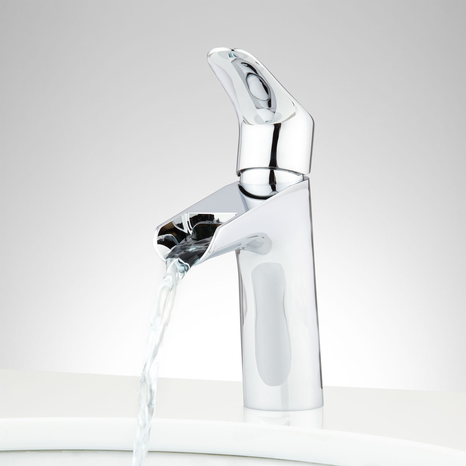 Best ideas about Waterfall Bathroom Faucet . Save or Pin Kopren Single Hole Waterfall Faucet Single Hole Faucets Now.