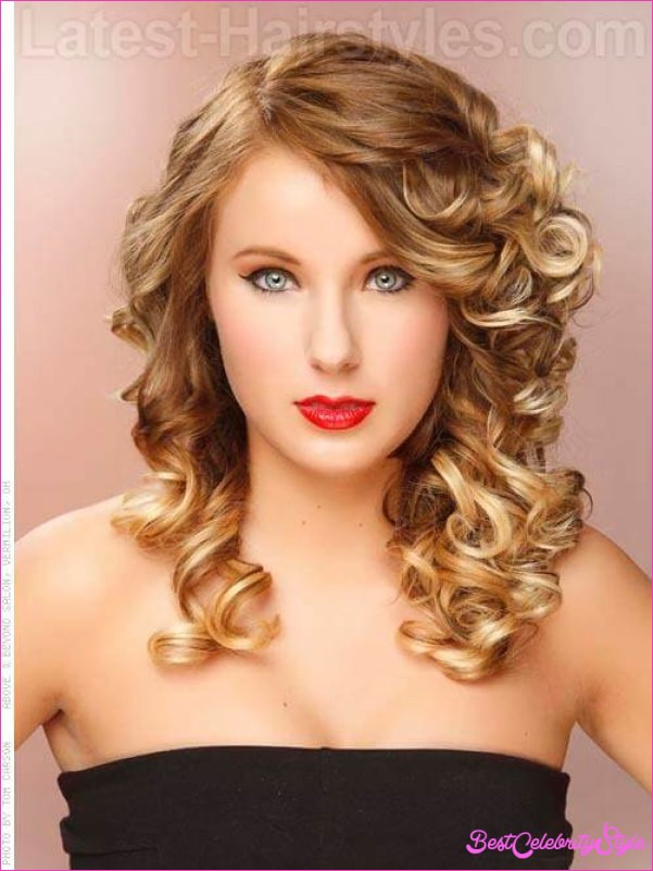 Best ideas about Wavy Hairstyles For Prom . Save or Pin Prom hairstyles for thick curly hair BestCelebrityStyle Now.