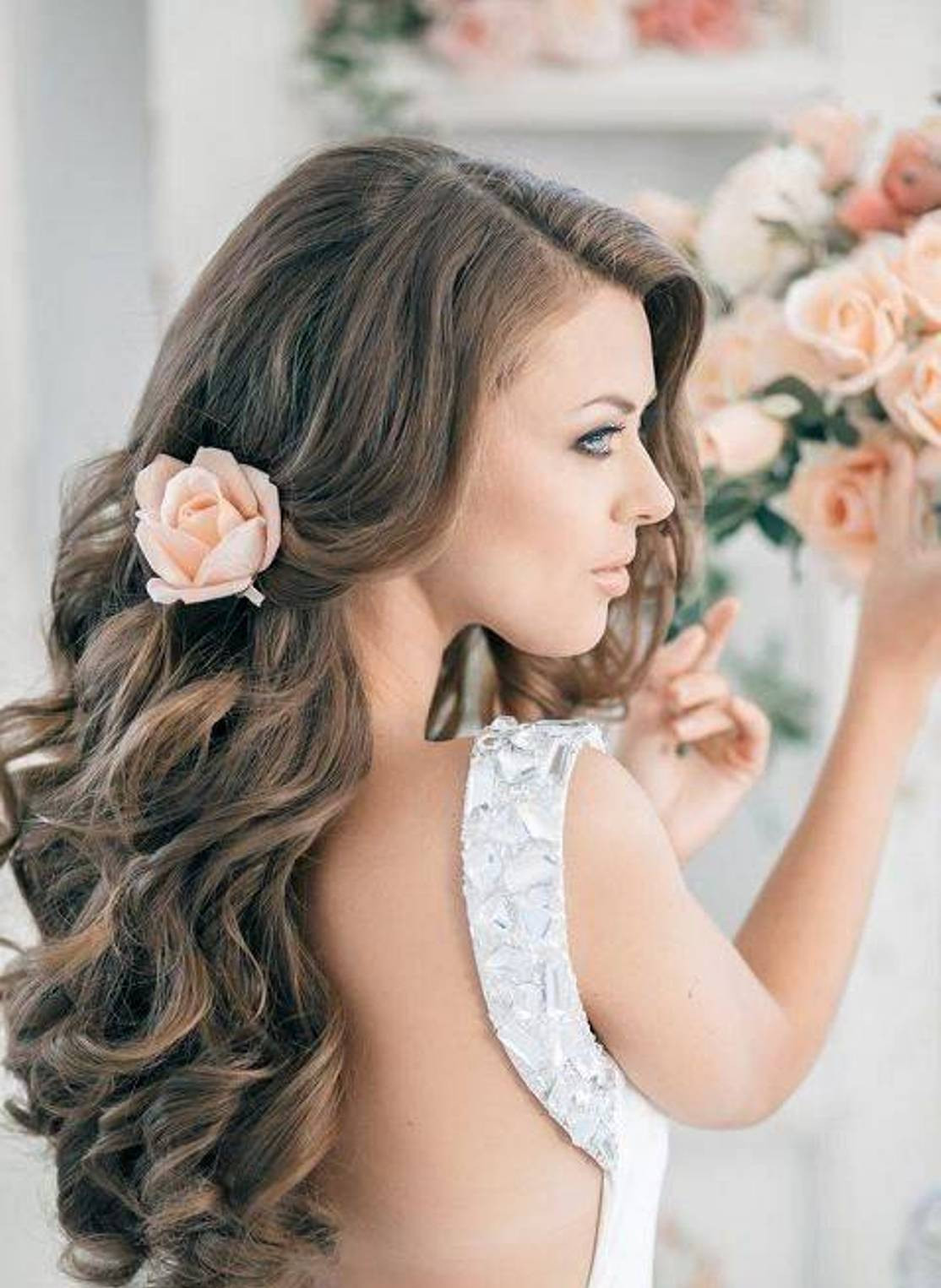 Best ideas about Wavy Wedding Hairstyle . Save or Pin Bridal Hairstyles Sirmione Wedding Now.