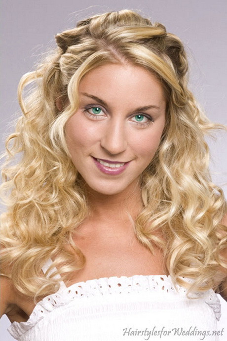 Best ideas about Wavy Wedding Hairstyle . Save or Pin Down curly hairstyles for weddings Now.