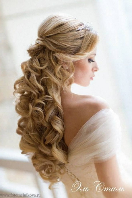 Best ideas about Wavy Wedding Hairstyle . Save or Pin Down curly wedding hairstyles Now.