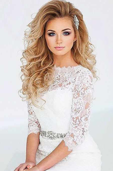 Best ideas about Wavy Wedding Hairstyle . Save or Pin 20 Long Curly Wedding Hairstyles 2017 Now.