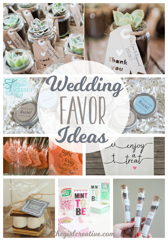 Best ideas about Wedding Favor Gift Ideas . Save or Pin Wedding Favor Ideas The Girl Creative Now.