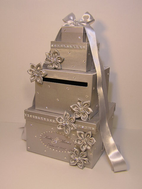 Best ideas about Wedding Gift Card Boxes Ideas . Save or Pin Wedding Card Box Silver Gift Card Box Money Box Now.