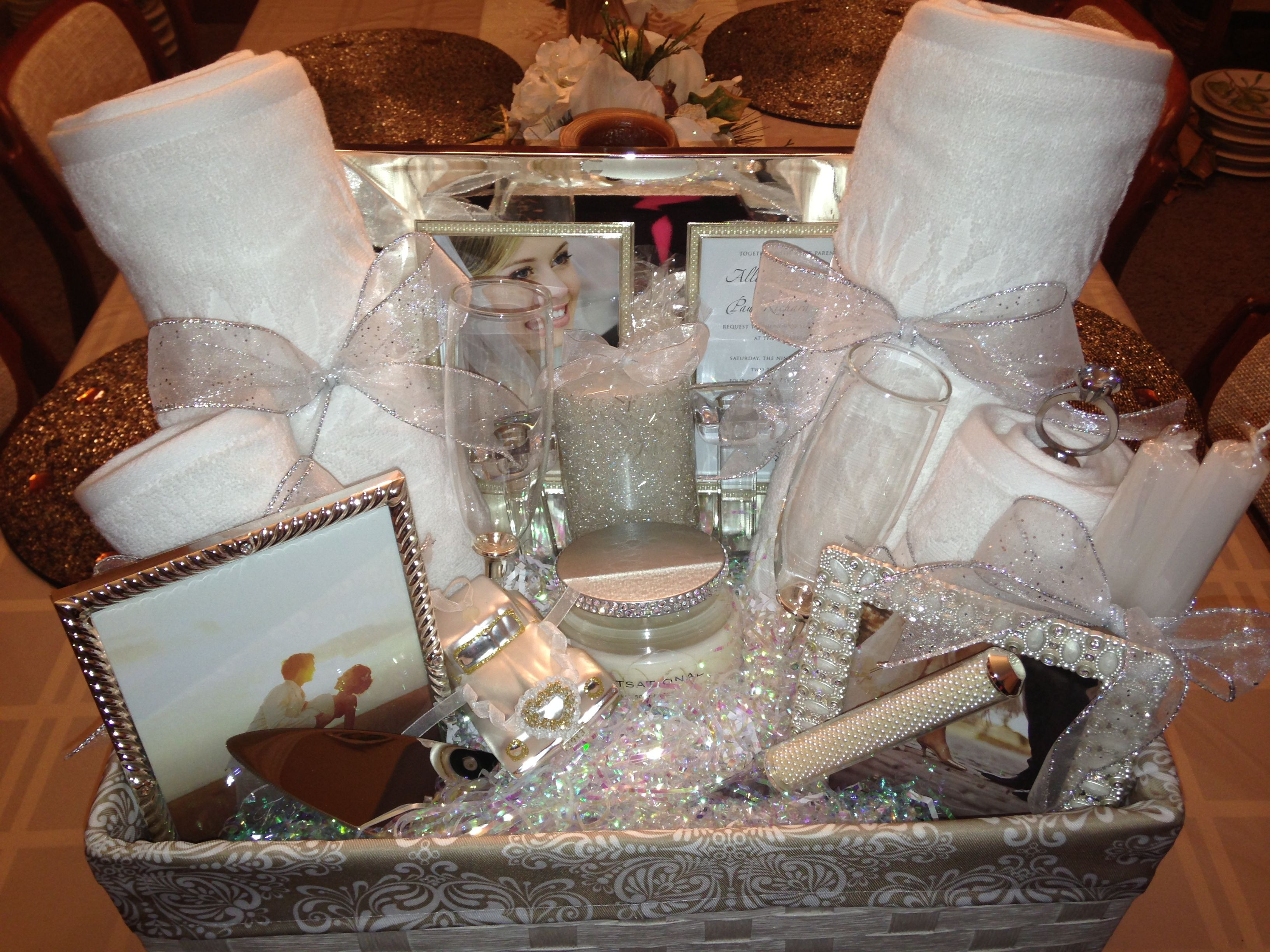 Best ideas about Wedding Gift Ideas For Bride And Groom Who Have Everything . Save or Pin Bridal shower t basket ideas Ideasthatsparkle on Now.