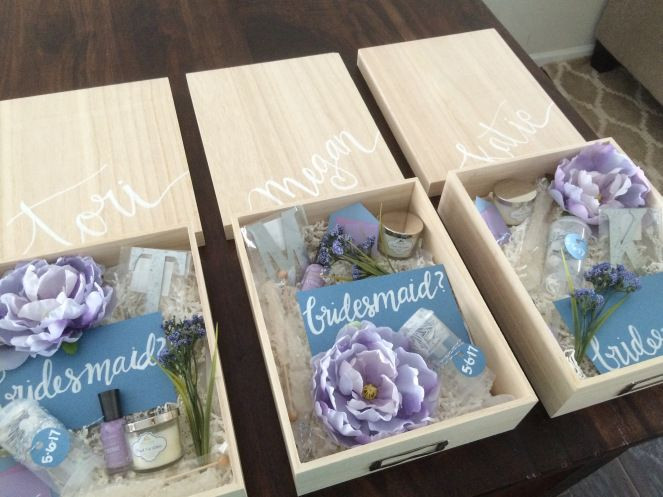 Best ideas about Wedding Gift Ideas For Bridesmaids . Save or Pin DIY bridesmaid boxes crafty me Now.