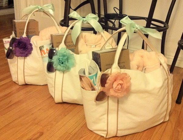 Best ideas about Wedding Gift Ideas For Bridesmaids . Save or Pin Bridesmaid Gift Bags on Pinterest Now.