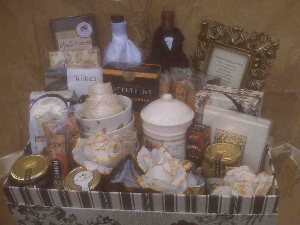 Best ideas about Wedding Gift Ideas From Groom To Bride . Save or Pin Wedding Gift Baskets For Bride And Groom Wedding and Now.