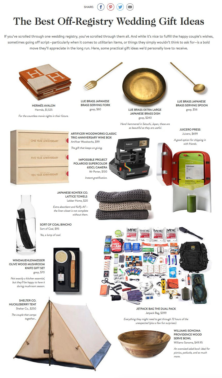 Best ideas about Wedding Gift Registry Ideas . Save or Pin 15 Personalized Wedding Gift Ideas f The Registry Now.