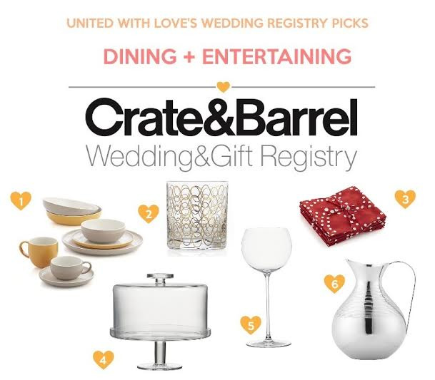 Best ideas about Wedding Gift Registry Ideas . Save or Pin Wedding Registry Ideas from Crate & Barrel United With Love Now.