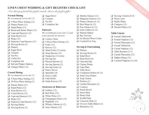 Best ideas about Wedding Gift Registry Ideas . Save or Pin 26 best Wedding Registry Checklists images on Pinterest Now.