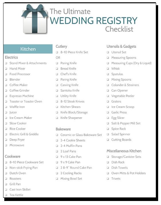 Best ideas about Wedding Gift Registry Ideas . Save or Pin Wedding Registry Checklist RegistryFinder Now.