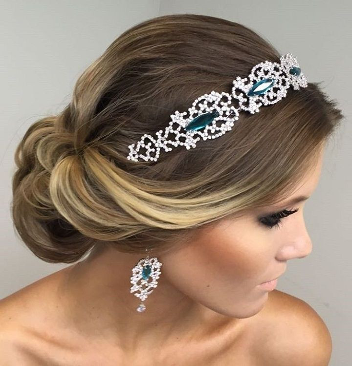Best ideas about Wedding Hairstyles With Headband . Save or Pin Beautiful bridal updo hairstyle with headband Now.