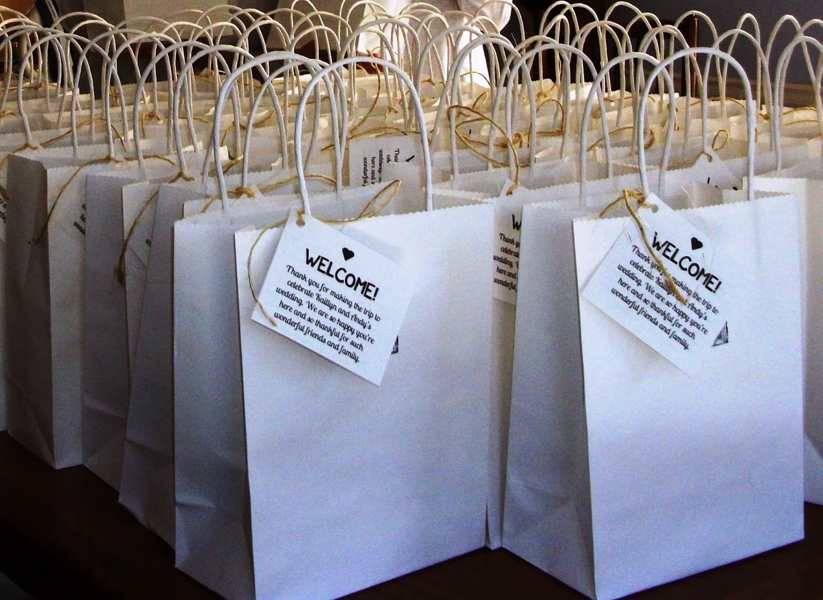 Best ideas about Wedding Hotel Gift Bag Ideas . Save or Pin Lovely Ache Wedding Wel e Bags for Out of Town Guests Now.