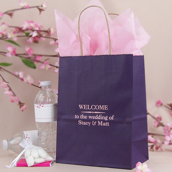 Best ideas about Wedding Hotel Gift Bag Ideas . Save or Pin 8 x 10 Custom Printed Paper Wedding Hotel Guest Gift Bags Now.