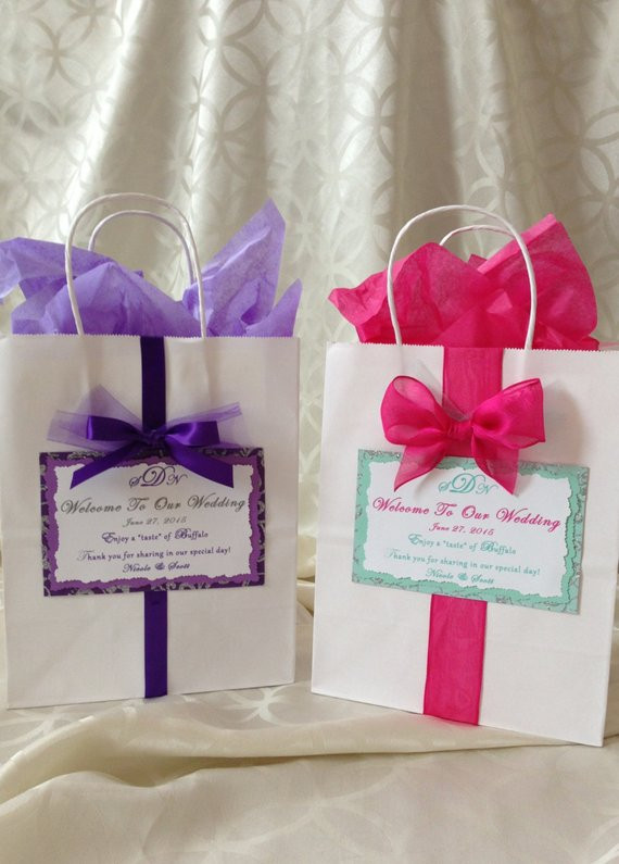 Best ideas about Wedding Hotel Gift Bag Ideas . Save or Pin Wedding Hotel Wel e Bag Personalized by PinkPalmtreeDesigns Now.