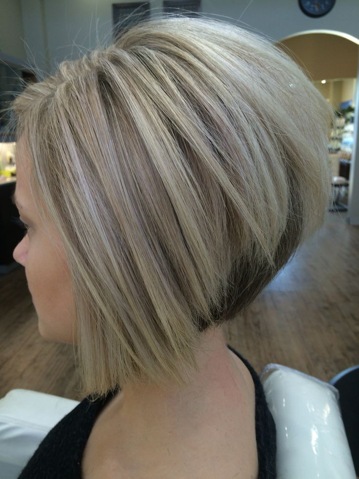 Best ideas about Wedged Bob Haircuts . Save or Pin Cool blonde color and sharp inverted Bob I created Now.