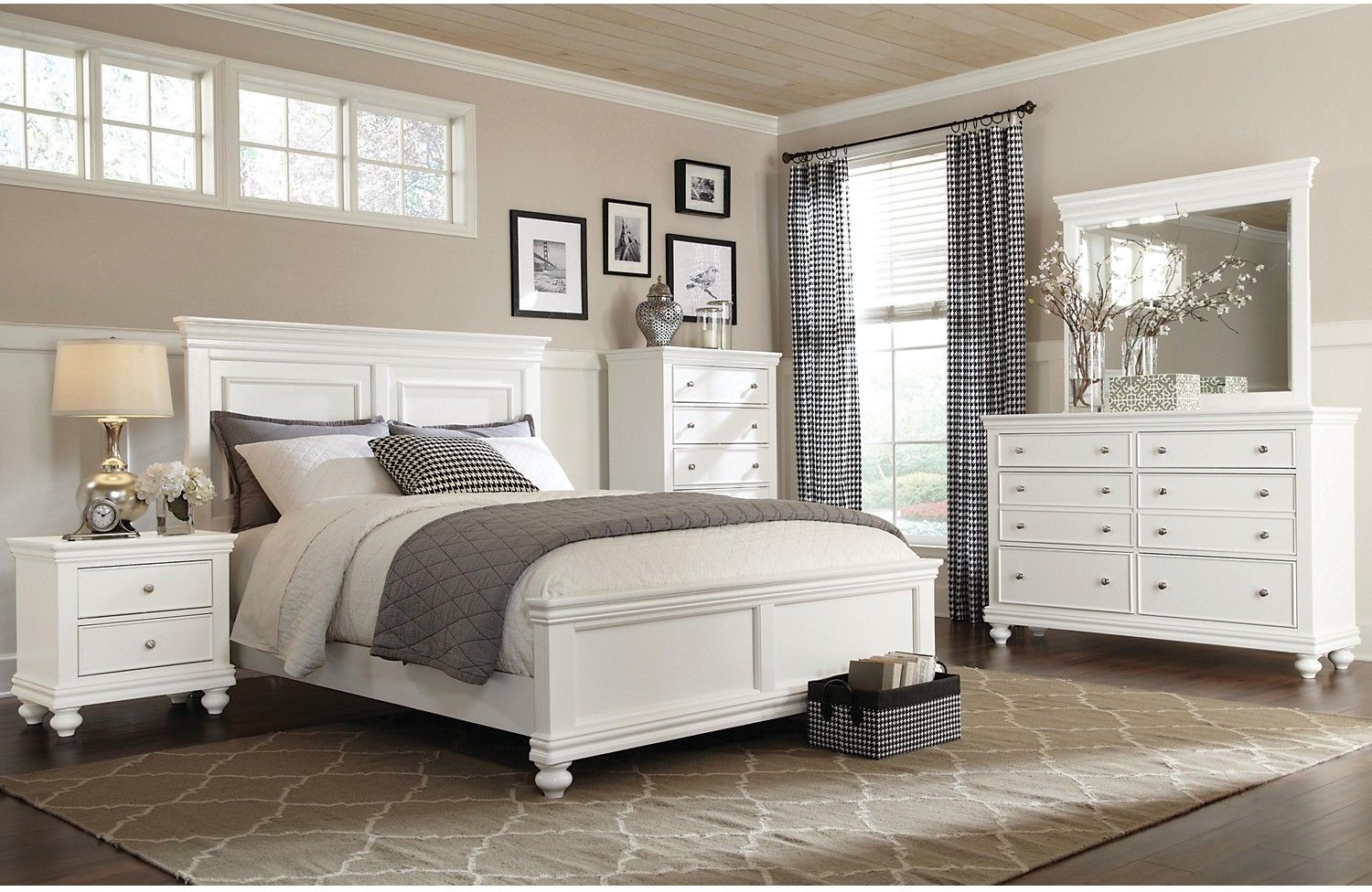 Best ideas about White Queen Bedroom Set . Save or Pin Bridgeport 6 Piece Queen Bedroom Set – White Now.