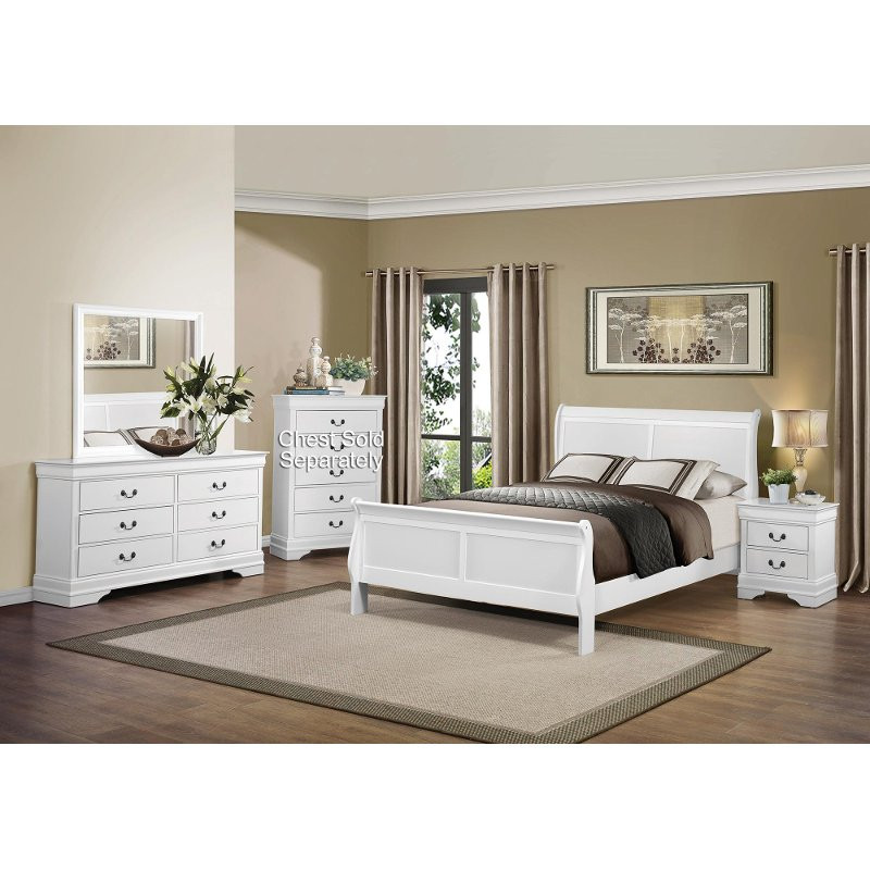 Best ideas about White Queen Bedroom Set . Save or Pin Mayville White 6 Piece Queen Bedroom Set Now.