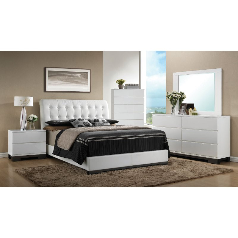 Best ideas about White Queen Bedroom Set . Save or Pin Avery 6 Piece White Queen Bedroom Set Now.