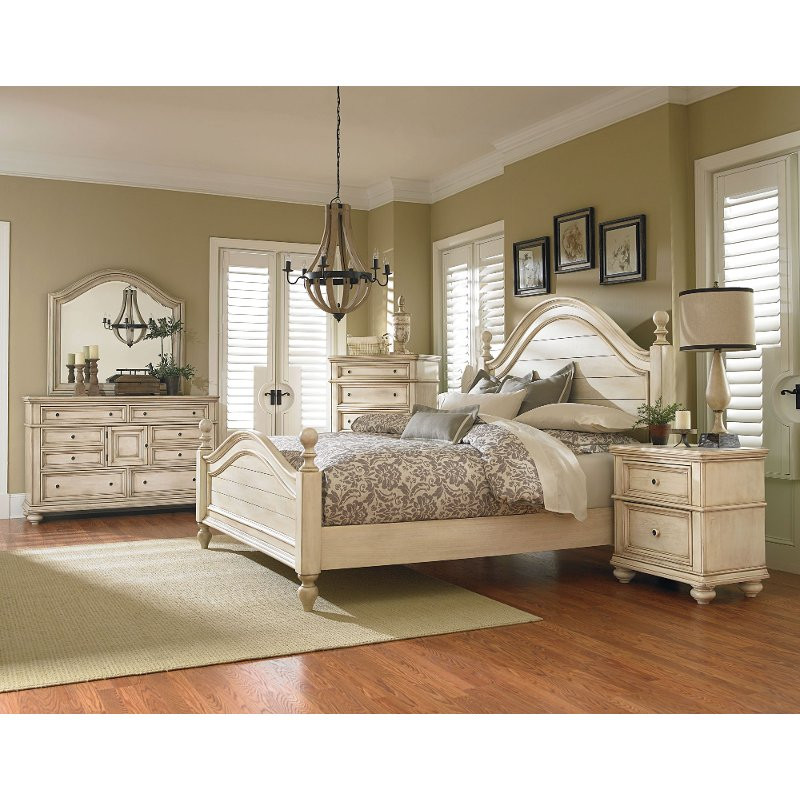 Best ideas about White Queen Bedroom Set . Save or Pin Heritage Antique White 6 Piece Queen Bedroom Set Now.