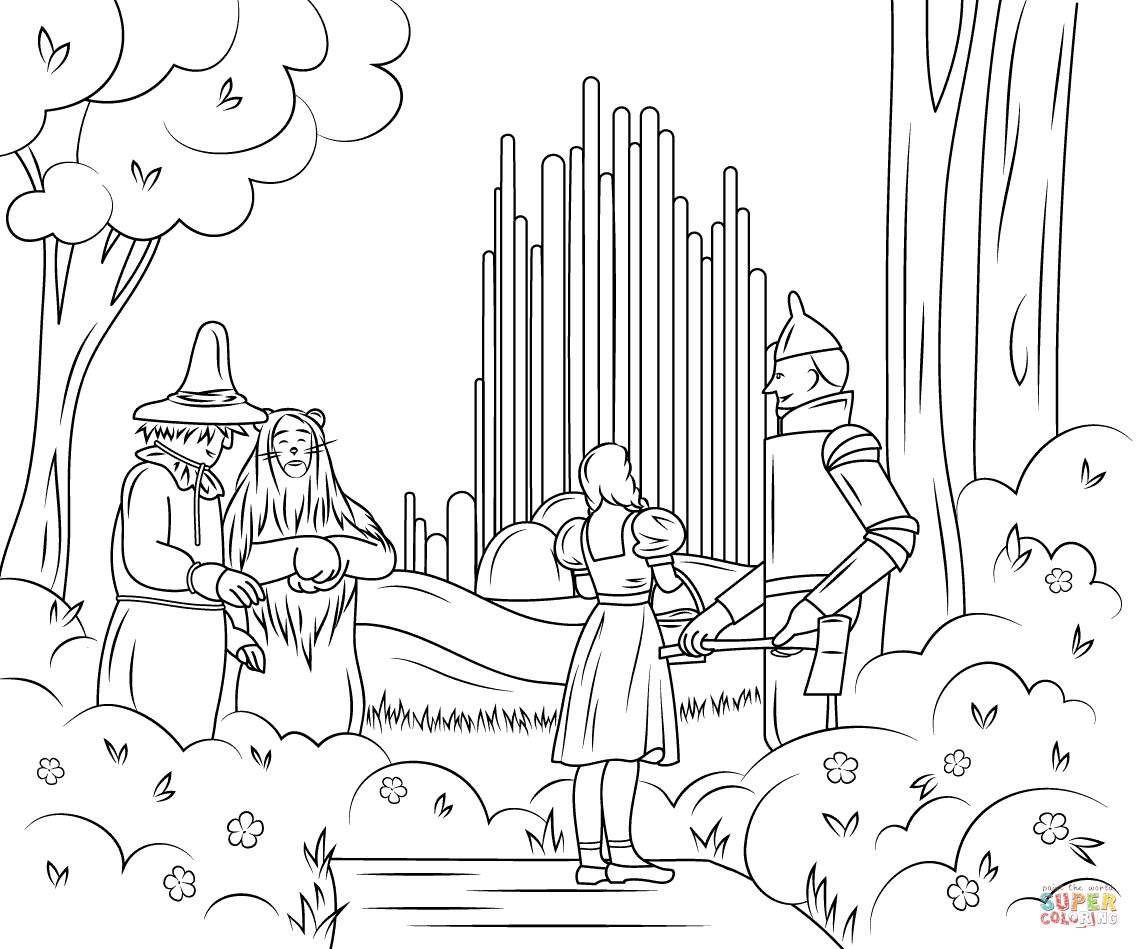 Best ideas about Wizard Of Oz Characters Free Coloring Sheets . Save or Pin Wizard of Oz Emerald City coloring page Now.