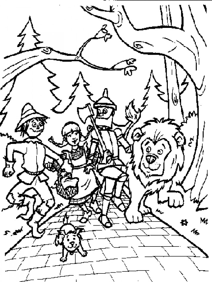 Best ideas about Wizard Of Oz Characters Free Coloring Sheets . Save or Pin Get This Wizard Oz Coloring Pages to Print for Kids Q1CIN Now.