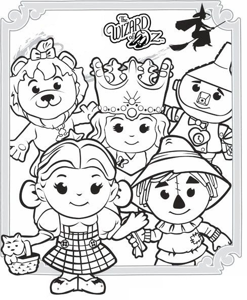 Best ideas about Wizard Of Oz Characters Free Coloring Sheets . Save or Pin the wizard of oz characters coloring picture printable Now.