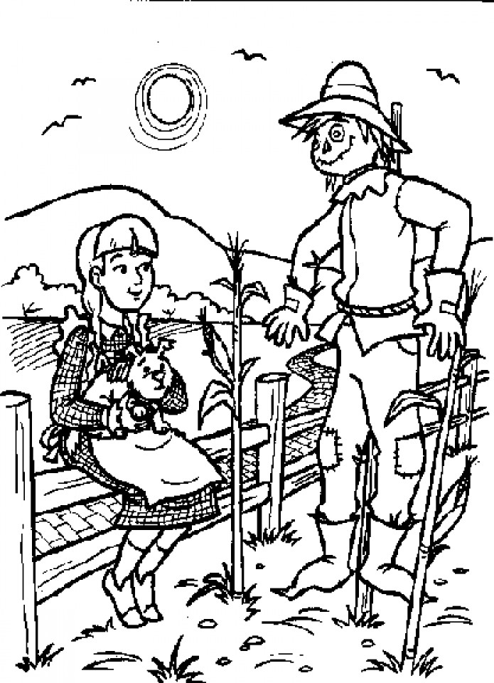 Best ideas about Wizard Of Oz Characters Free Coloring Sheets . Save or Pin Get This Easy Preschool Printable of Wizard Oz Coloring Now.