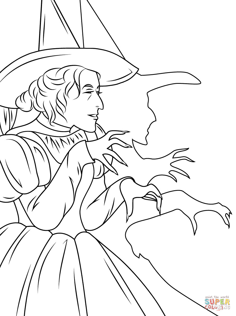 Best ideas about Wizard Of Oz Characters Free Coloring Sheets . Save or Pin Wizard of Oz Wicked Witch coloring page Now.