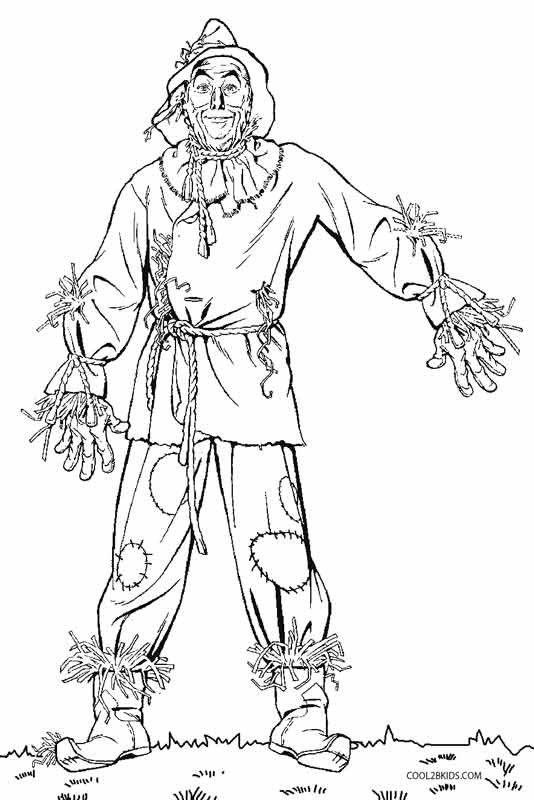 Best ideas about Wizard Of Oz Characters Free Coloring Sheets . Save or Pin Printable Scarecrow Coloring Pages For Kids Now.