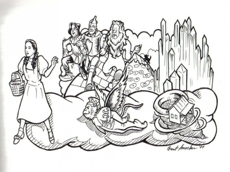 Best ideas about Wizard Of Oz Characters Free Coloring Sheets . Save or Pin Wizard Oz Coloring Pages Free Coloring Home Now.