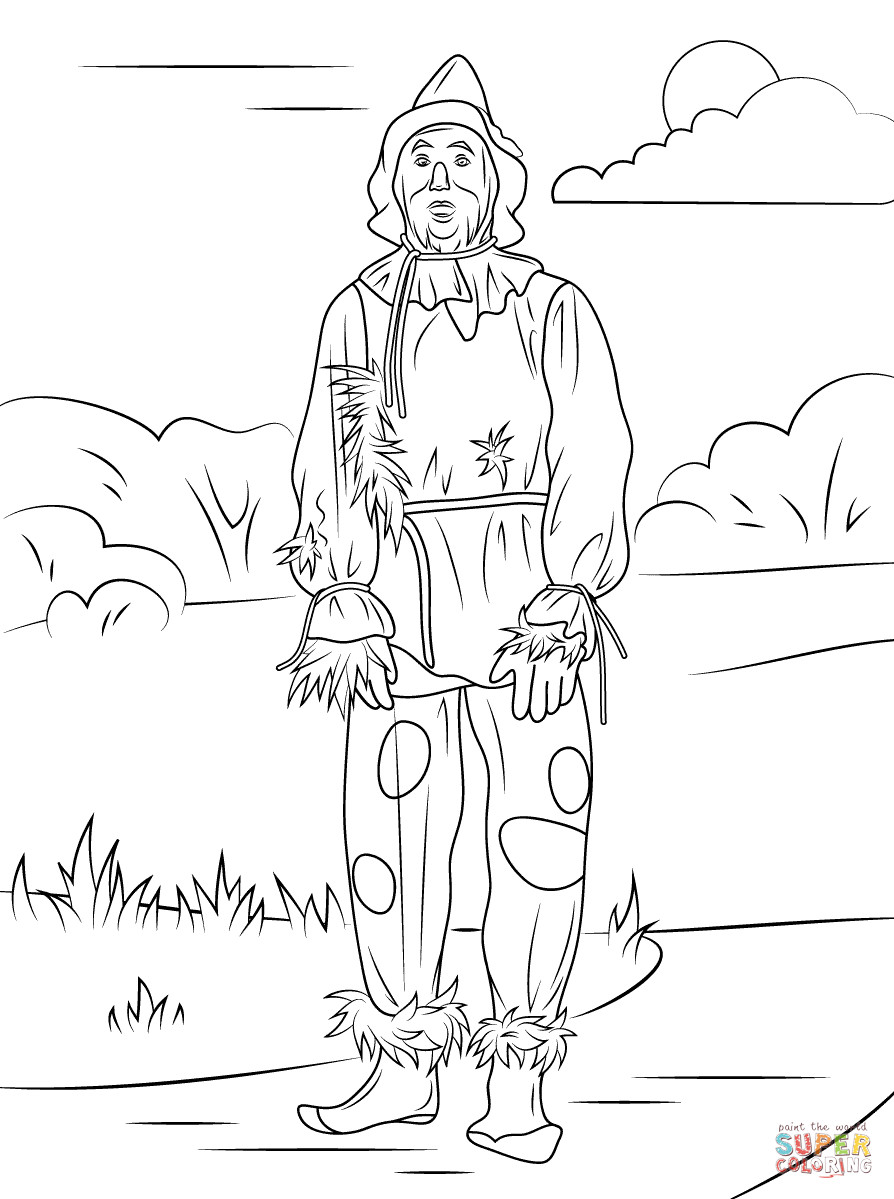 Best ideas about Wizard Of Oz Characters Free Coloring Sheets . Save or Pin Wizard of Oz Scarecrow coloring page Now.