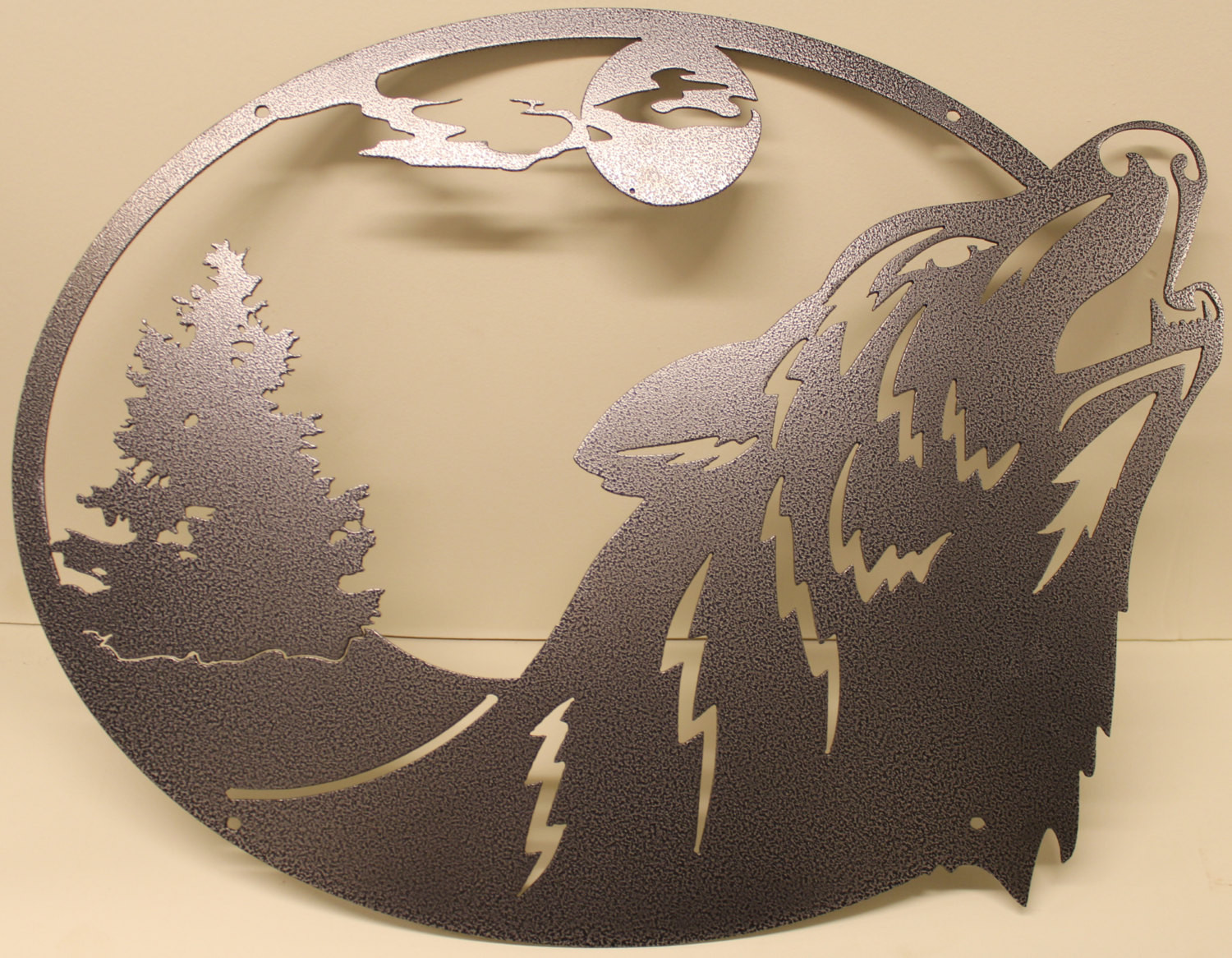 Best ideas about Wolf Wall Art . Save or Pin Howling Wolf Oval Scene Metal Wall Art Home Decor Now.