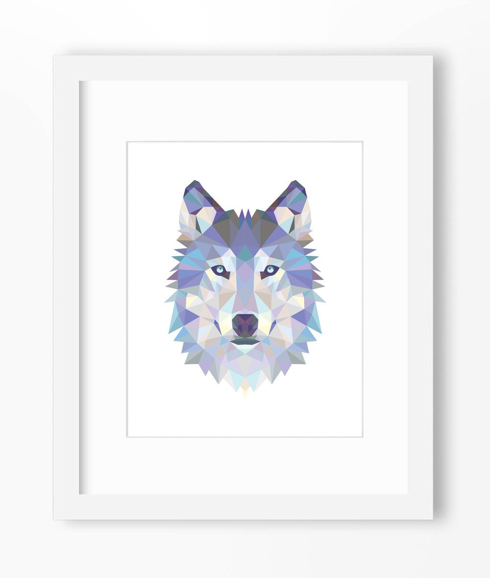 Best ideas about Wolf Wall Art . Save or Pin Wolf Print Wolf Art Wolf Wall Art Geometric Wolf Print Now.