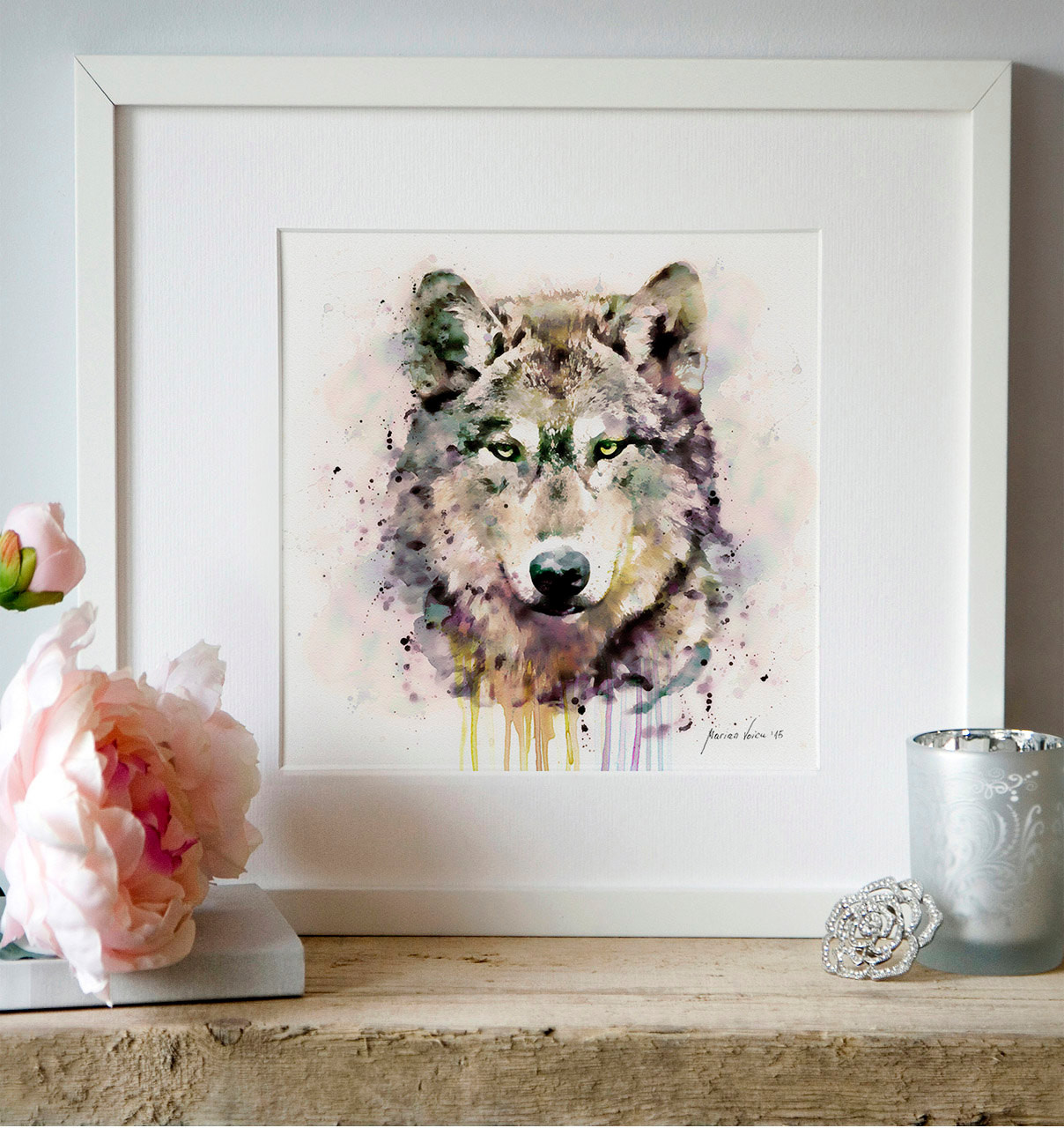 Best ideas about Wolf Wall Art . Save or Pin Wolf Head Watercolor painting Wildlife Wall art Wolf poster Now.
