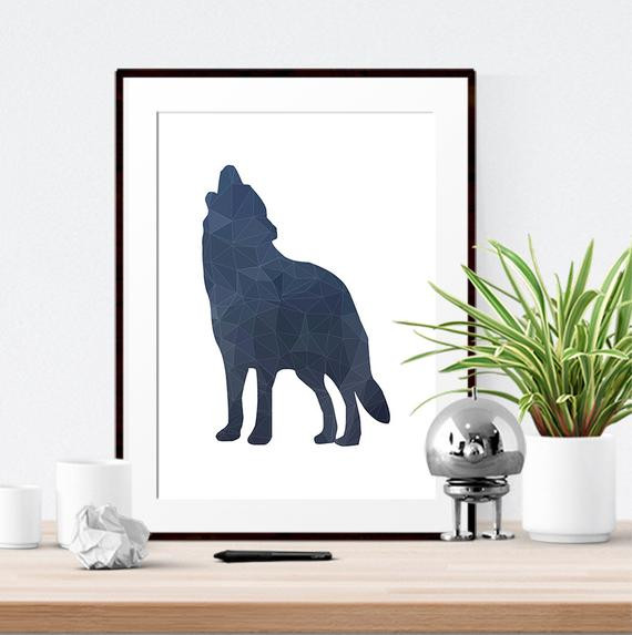 Best ideas about Wolf Wall Art . Save or Pin Wolf print Wolf art Modern print Home decor Wolf by Now.