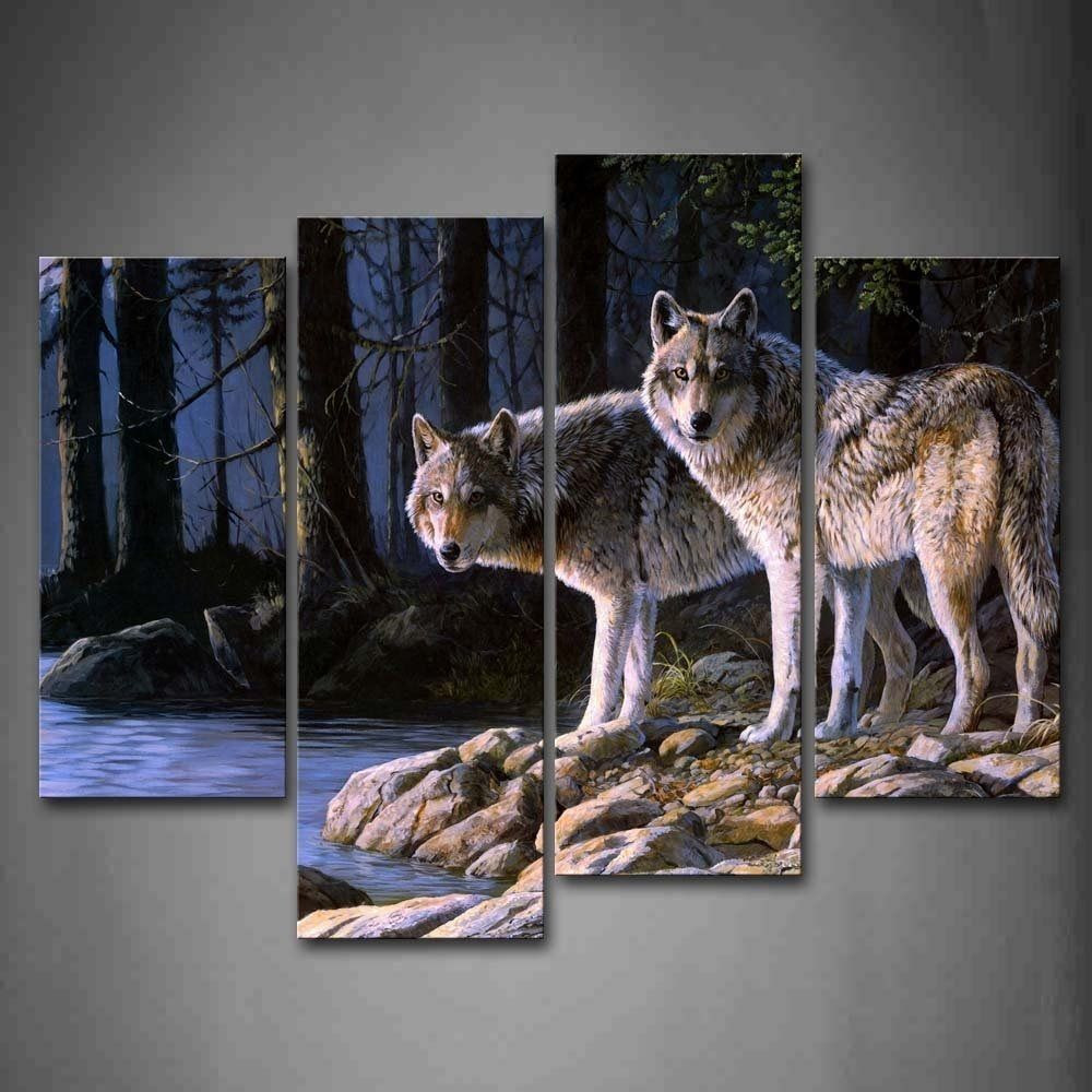 Best ideas about Wolf Wall Art . Save or Pin Wolf Wall Art Print Canvas Animal Painting Picture Wood Now.