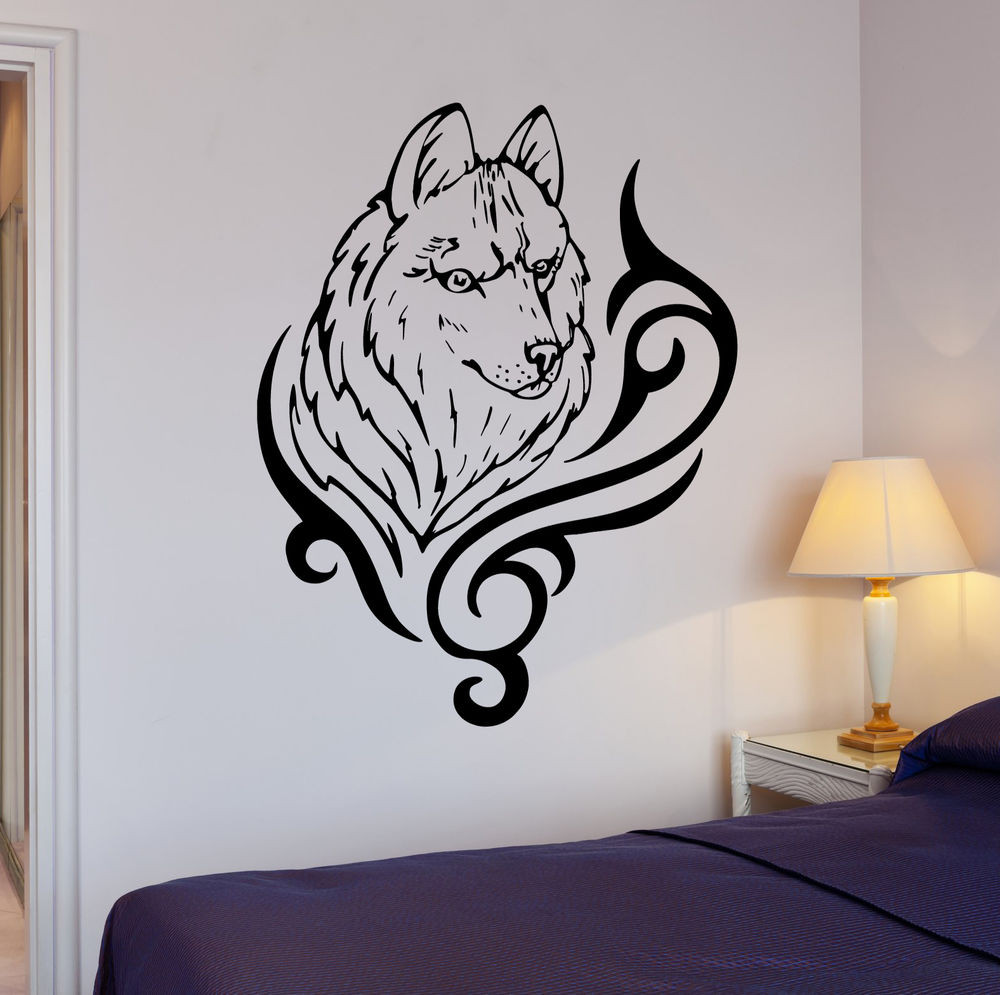 Best ideas about Wolf Wall Art . Save or Pin Wall Stickers Wolf Animal Predator Tribal Art Mural Vinyl Now.