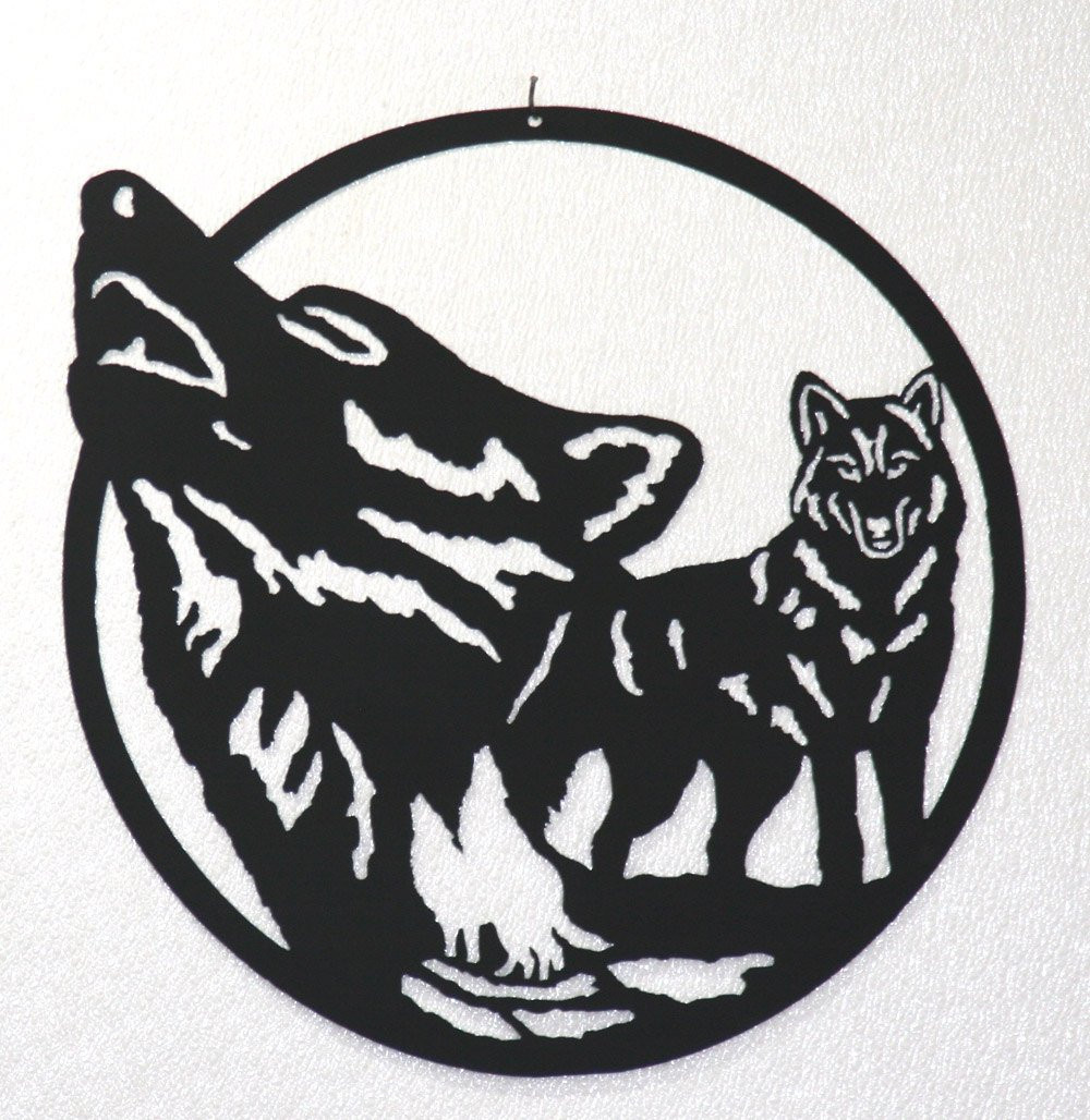 Best ideas about Wolf Wall Art . Save or Pin Wolf Pack Silhouette Wall Art Metal Art Home Decor Now.