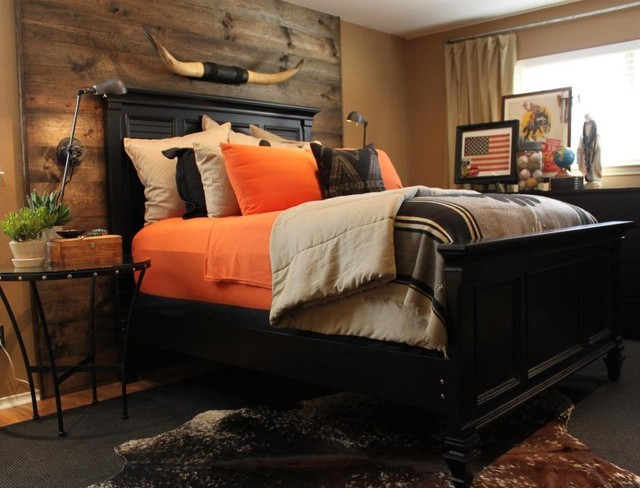 Best ideas about Wood Accent Wall Bedroom . Save or Pin Master Bedroom Wood Accent Wall Eclectic Bedroom Now.