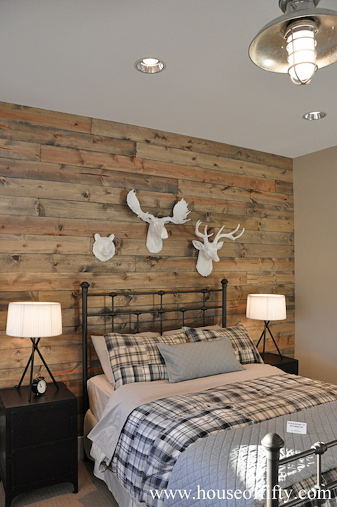 Best ideas about Wood Accent Wall Bedroom . Save or Pin Wood Accent Wall Country bedroom House of Fifty Now.
