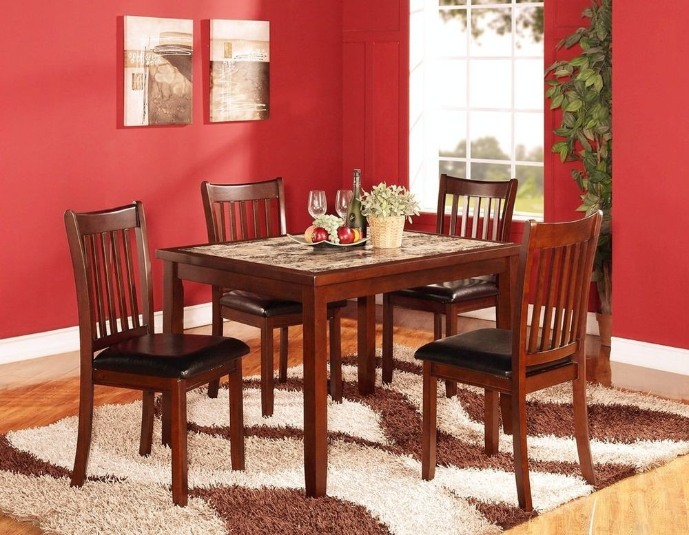 Best ideas about Wood Dining Table Set . Save or Pin 5PC Modern Dark Cappuccino Finish Solid Wood Dining Set Now.