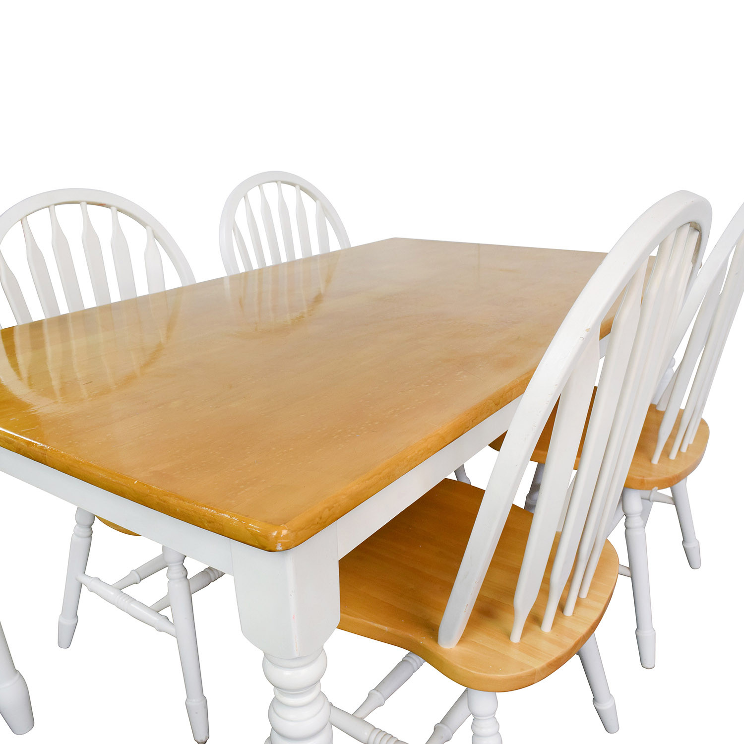 Best ideas about Wood Dining Table Set . Save or Pin OFF White and Natural Wood Color Dining set Tables Now.