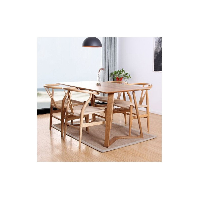Best ideas about Wood Dining Table Set . Save or Pin Modern Solid Wood Dining Table with Four Dining Chairs Set Now.