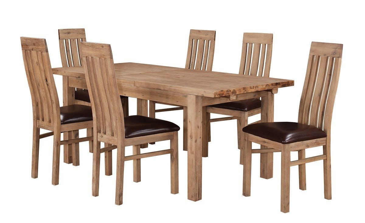Best ideas about Wood Dining Table Set . Save or Pin Solid Acacia Extending Wooden Dining Table & 6 Chairs Now.