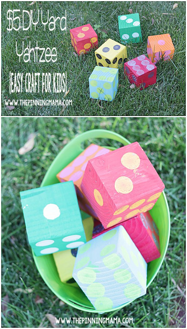 Best ideas about Yard Games DIY . Save or Pin DIY Yard Yahtzee Now.