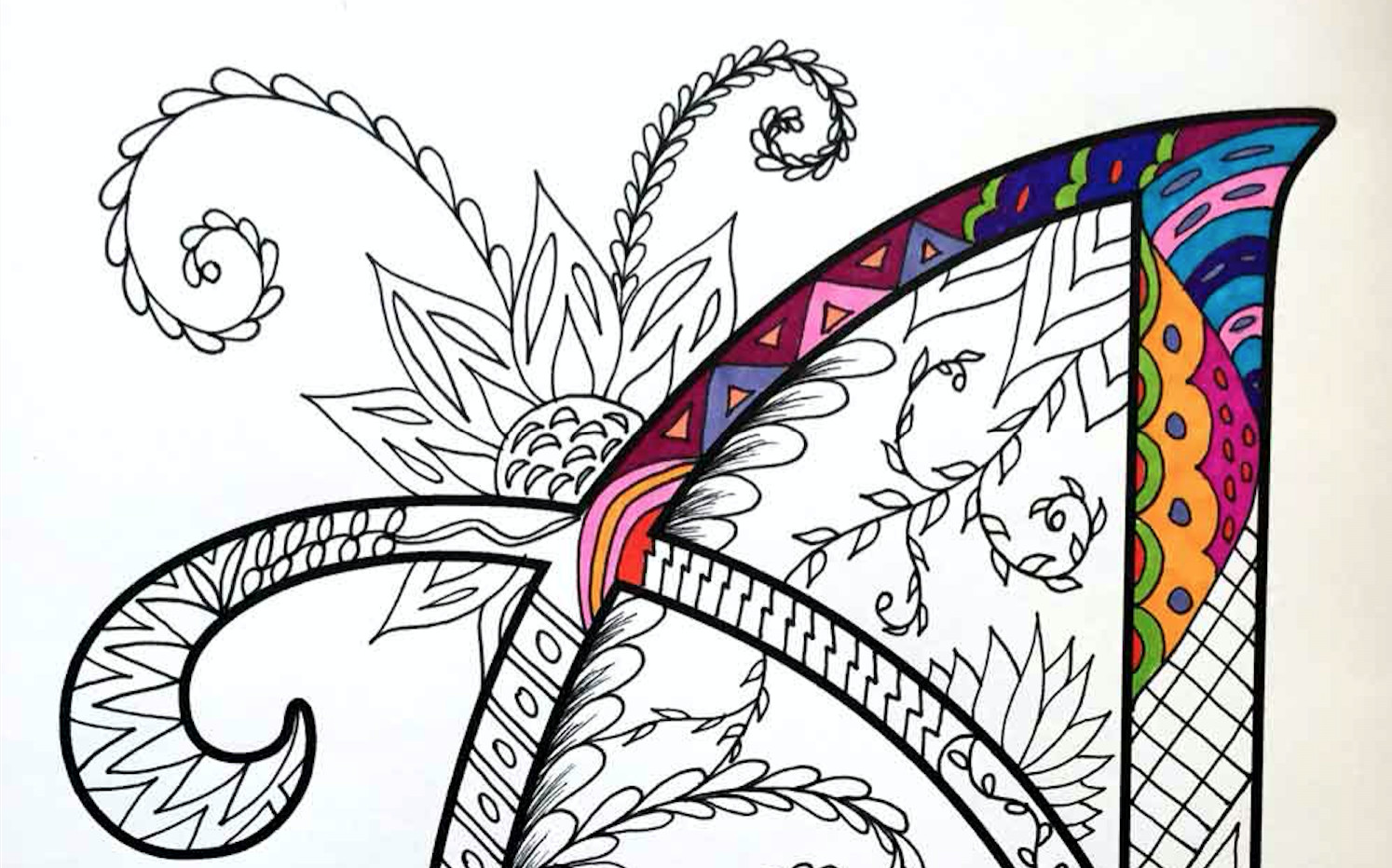 Best ideas about Zentangle Coloring Pages For Kids . Save or Pin Alphabet Zentangles Coloring Pages Kids Activities Now.